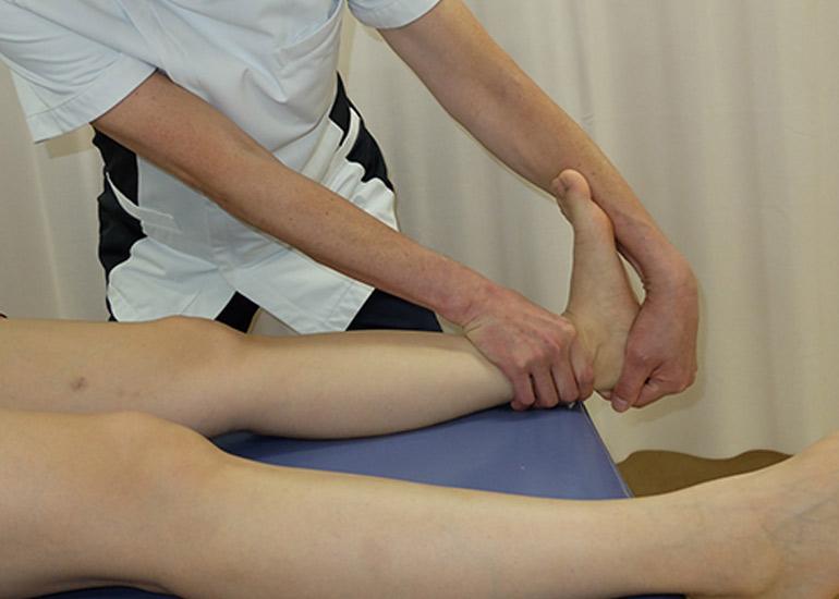 従来の足関節背屈伸張運動