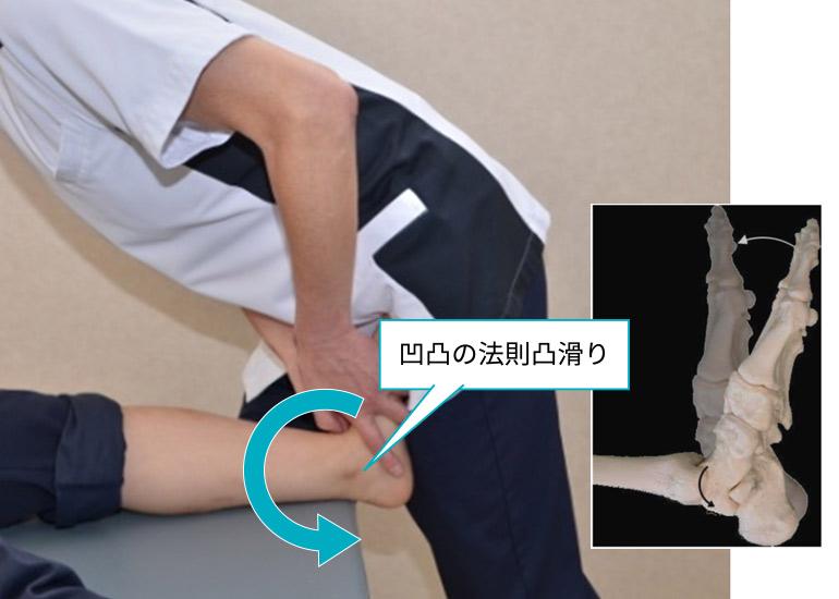 AKA-博田法による足関節背屈伸張運動